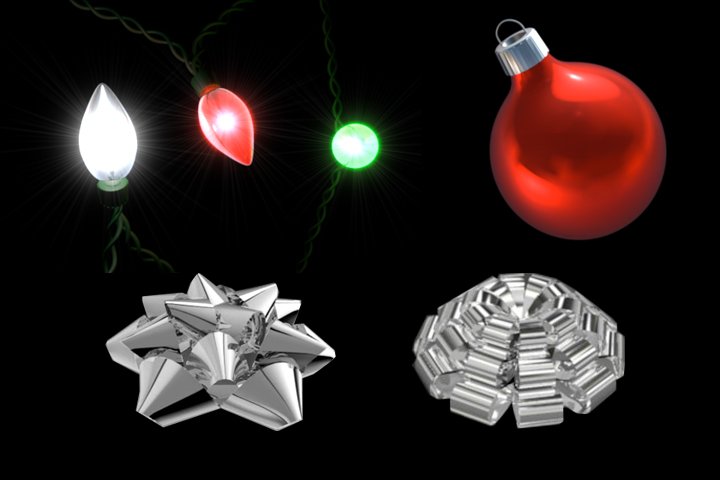 Free #C4D Models: Holiday Pack | The Motion League